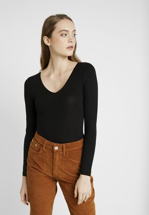 BODYSUIT BASIC - Topper langermet - black
