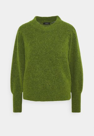 SLFLINNA O-NECK - Strickpullover - twist of lime