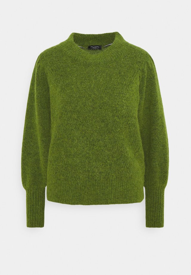 SLFLINNA O-NECK - Strikpullover /Striktrøjer - twist of lime