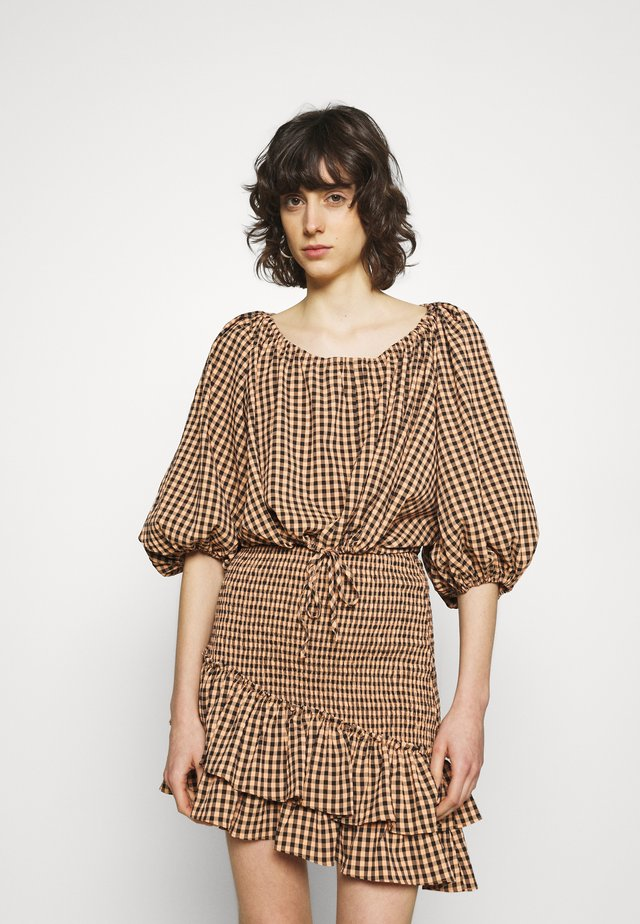 THE CHECKED OUT - Long sleeved top - orange