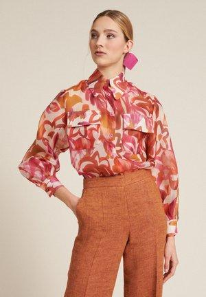 BASSEN - Button-down blouse - corallo