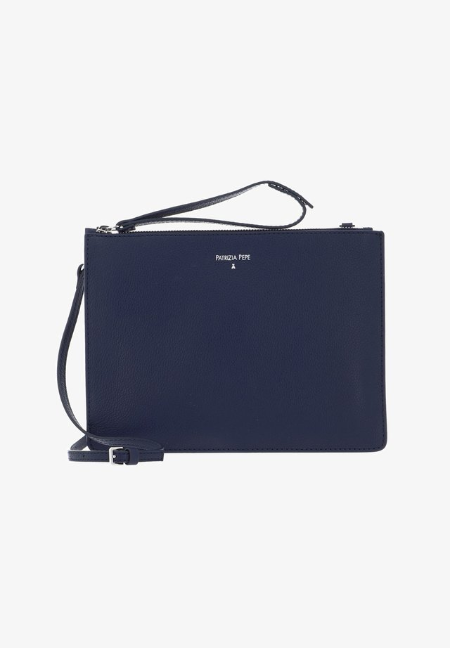 Clutch - dress blue / camel beige