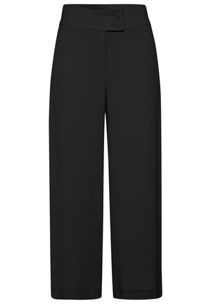 DAMEN HOSE WIDE FIT - Trousers - schwarz (15)