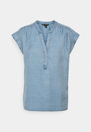 SHIRRED POPOVER - Bluse - chambray