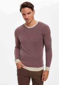DeFacto - Stickad tröja - red - 0