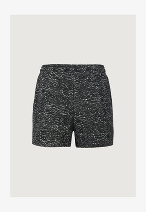 Swimming shorts - black aop w/ green