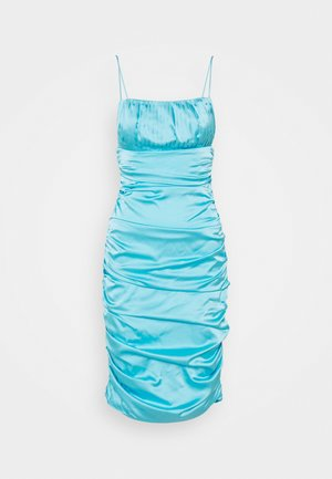 PLEAT DETAIL STRAPPY BODYCON MIDI DRESS - Cocktail dress / Party dress - blue