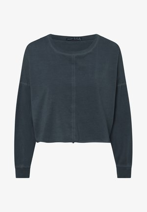CROPPED  - Long sleeved top - dark blue