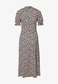 Miss Selfridge - HIGH NECK PUFF SLEEVE MIDI DRESS - Denní šaty - black - 1