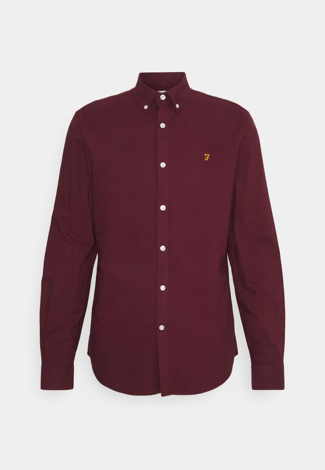 BREWER - Shirt - bordeaux