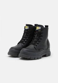 Buffalo - VEGAN ASPHA - Lace-up ankle boots - black - 1