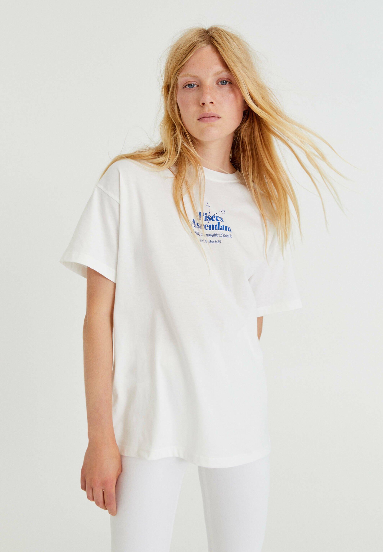 Damen MIT FARBLICH ABGESETZTEM TEXT - T-Shirt print