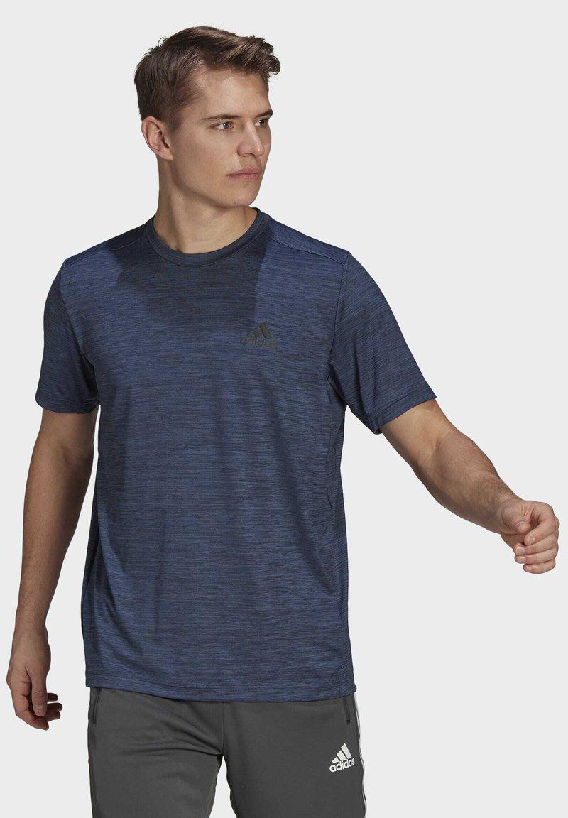 adidas Performance - M HT EL TEE - T-shirts basic - blue