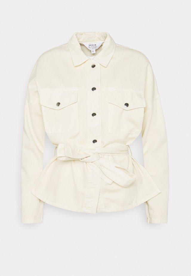 BELTED JACKET - Summer jacket - stone