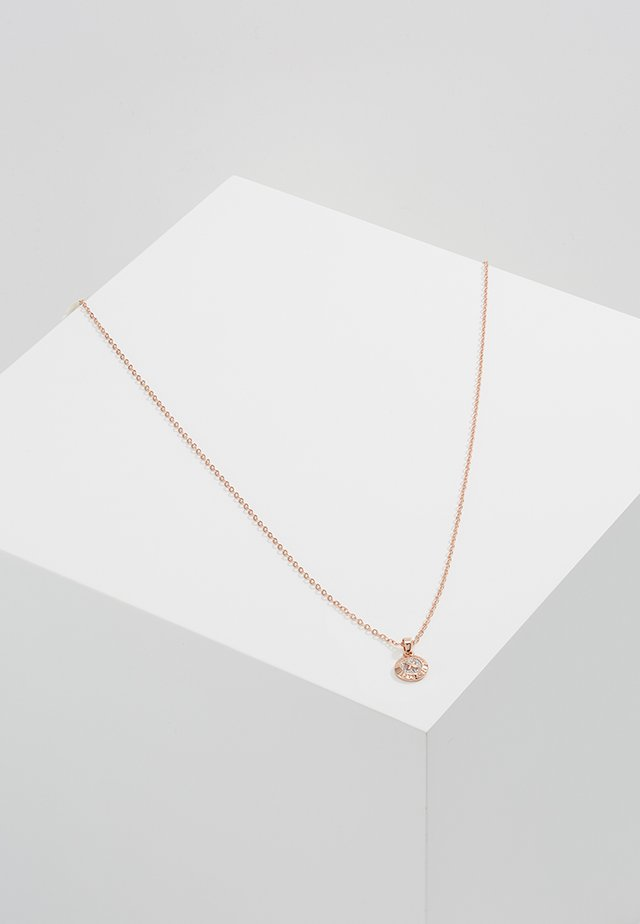 ELVINA MINI BUTTON PENDANT - Náhrdelník - rosegold-coloured