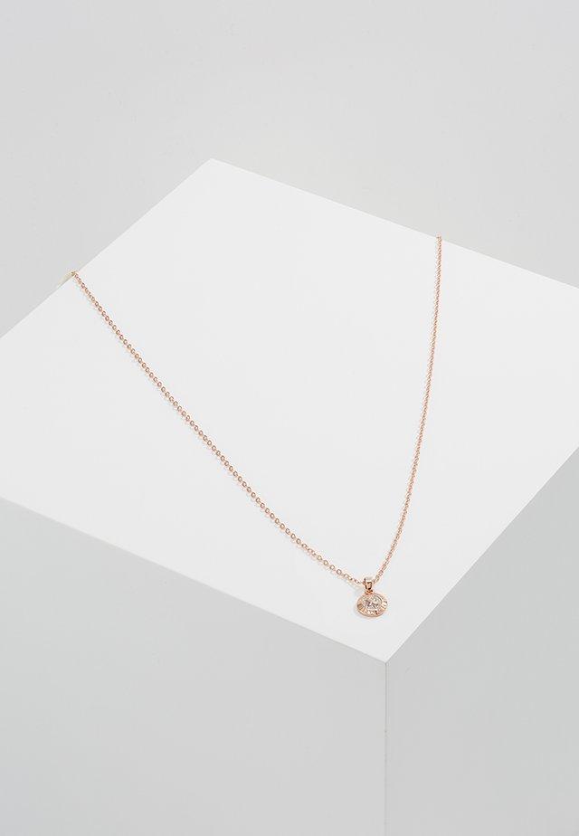 ELVINA MINI BUTTON PENDANT - Necklace - rosegold-coloured