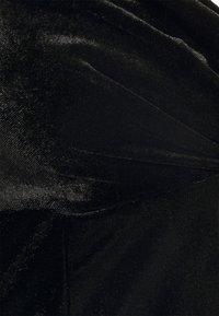 Missguided - WRAP FRONT DRESS - Etuikjole - black - 2