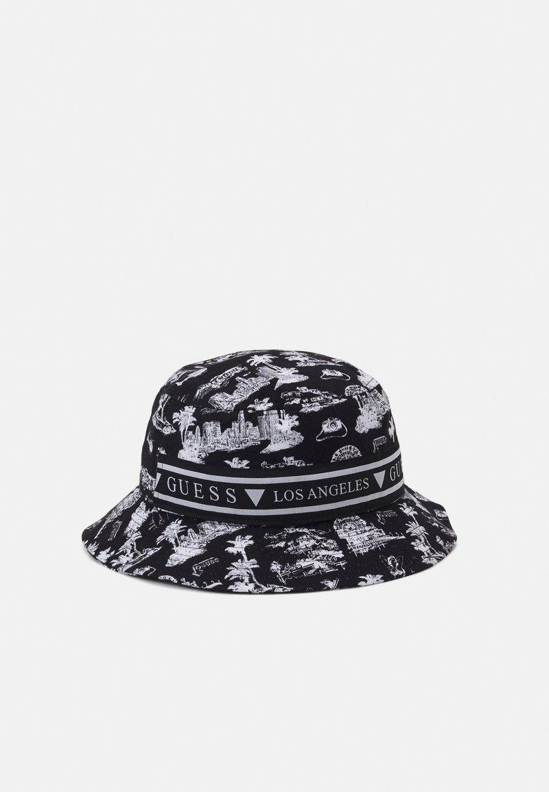 Guess - BUCKET HAT UNISEX - Klobouk - black
