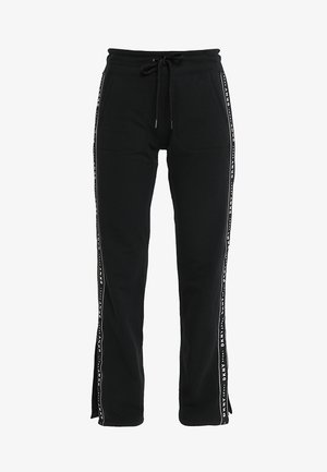 TRACK PANT W/SIDE SLIT - Tracksuit bottoms - black