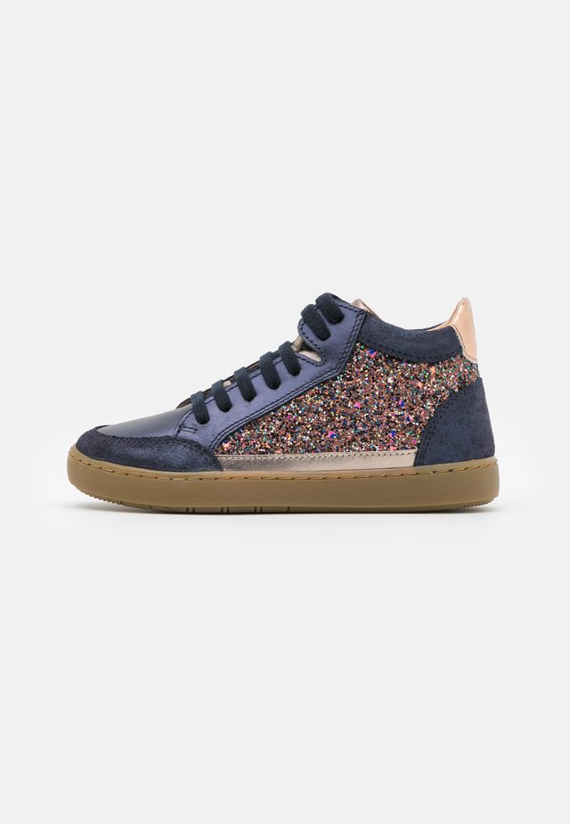 PLAY CONNECT - Zapatillas altas - bronze/navy