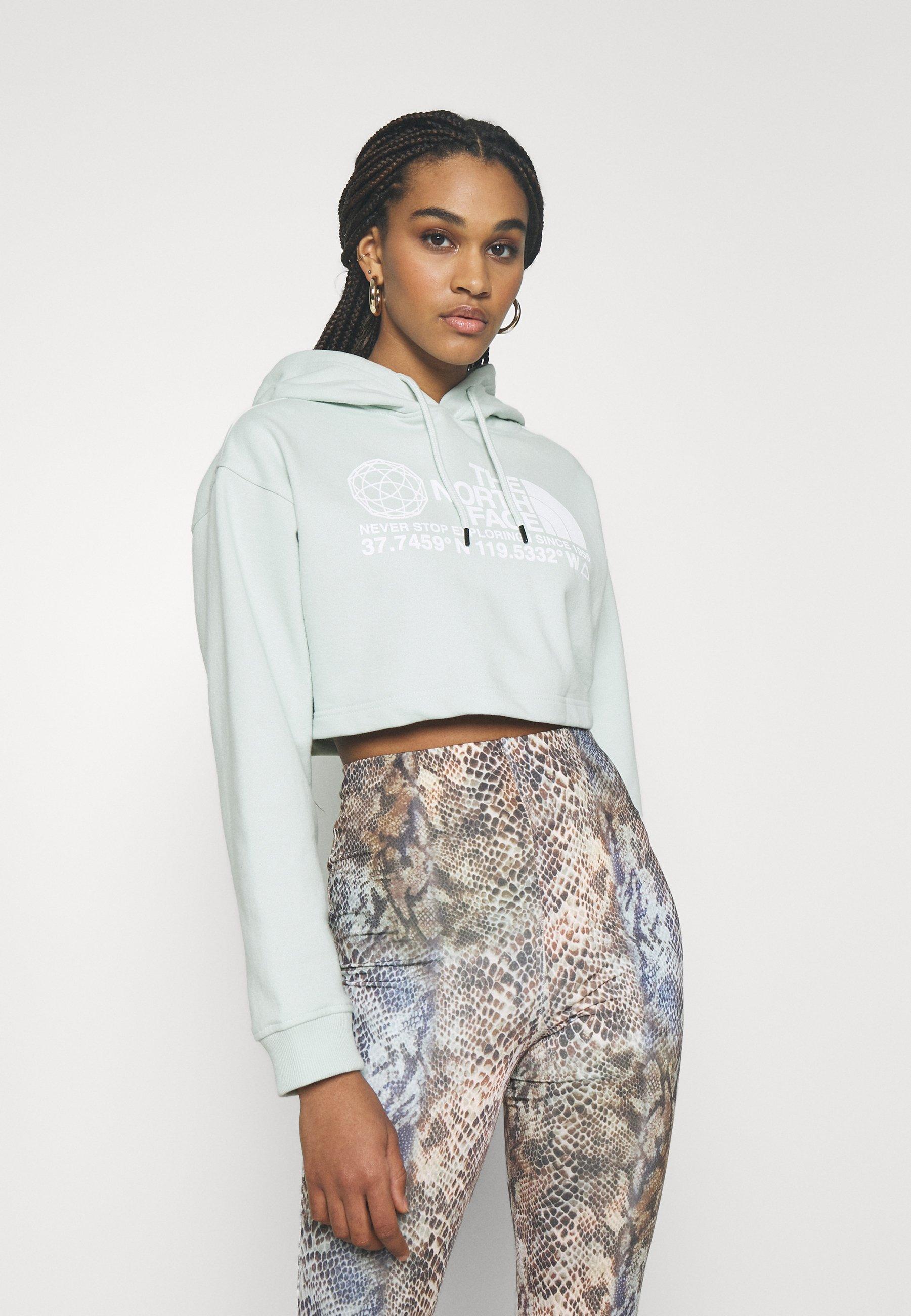 Women COORDINATES CROP DROP HOODIE - Sweatshirt
