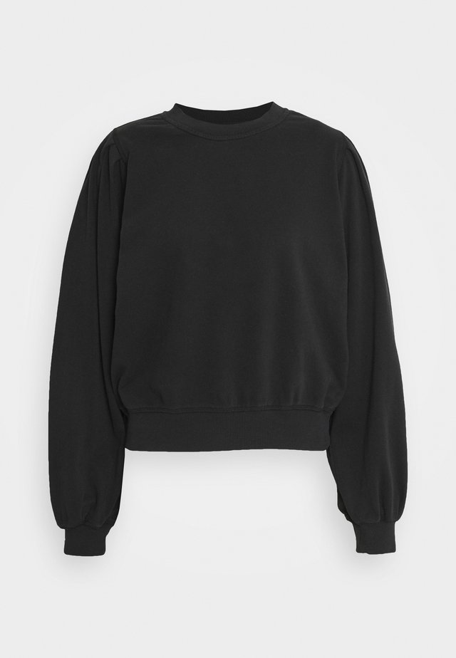 PENNY PLEAT SHOULDER CREW - Sweatshirt - black