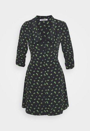LOW FRONT COLLAR MINI DRESS - Day dress - rosebud