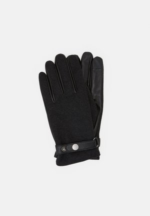 LEATHER MIX TOUCH SCREEN - Fingervantar - black
