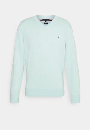 V NECK - Jumper - oxygen