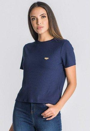 CORE RIBBED - T-shirt imprimé - navy blue