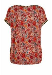 Oui - Print T-shirt - red yellow - 6