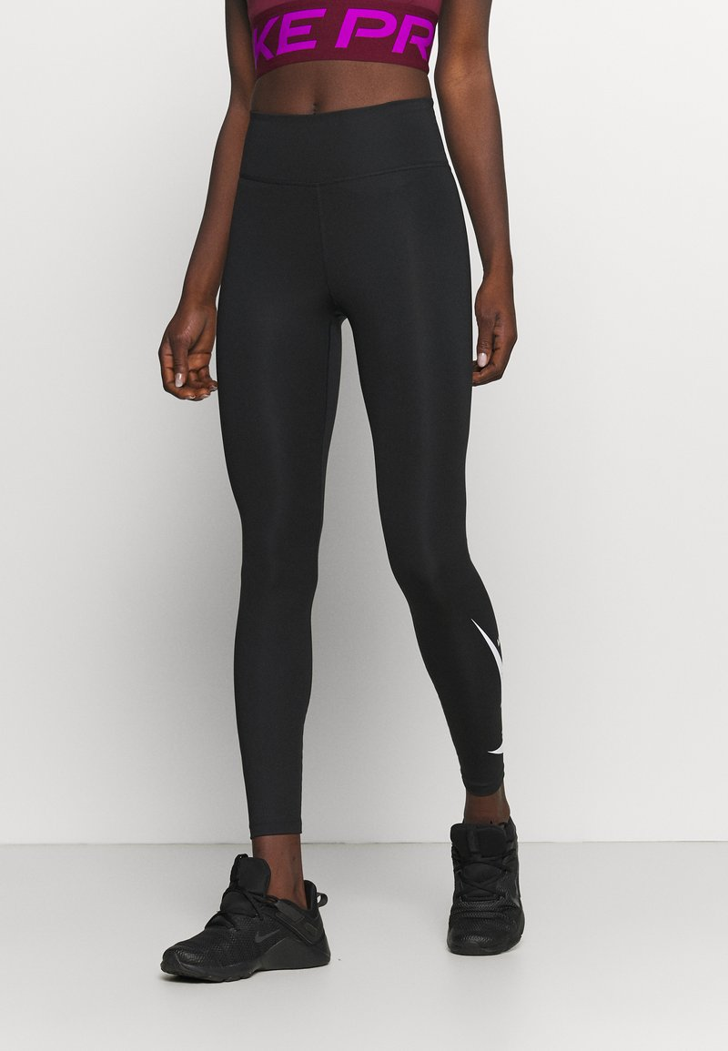 Nike Performance - RUN - Leggings - black/silver