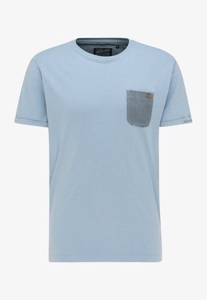 Print T-shirt - parrot blue