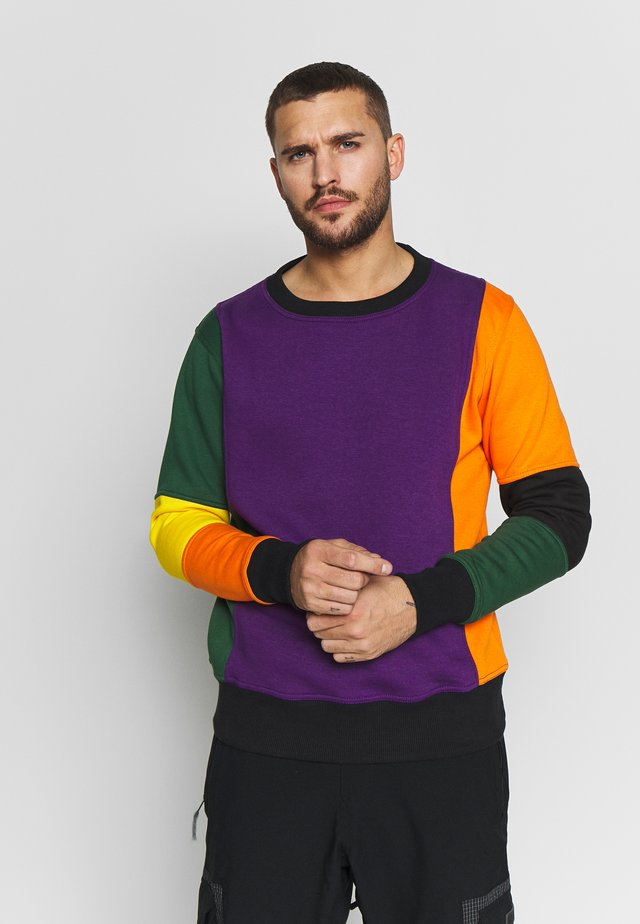 CARLTON  - Sweatshirt - purple/orange/green/black/red