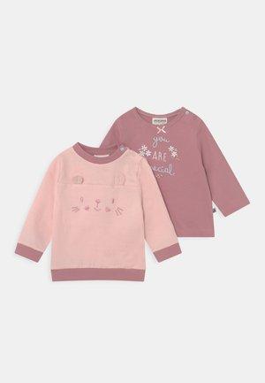 SWEET HOME SET - Sweatshirt - rosa/dunkelrosa