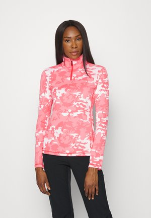 MARGO - T-shirt à manches longues - neon pink/weiß