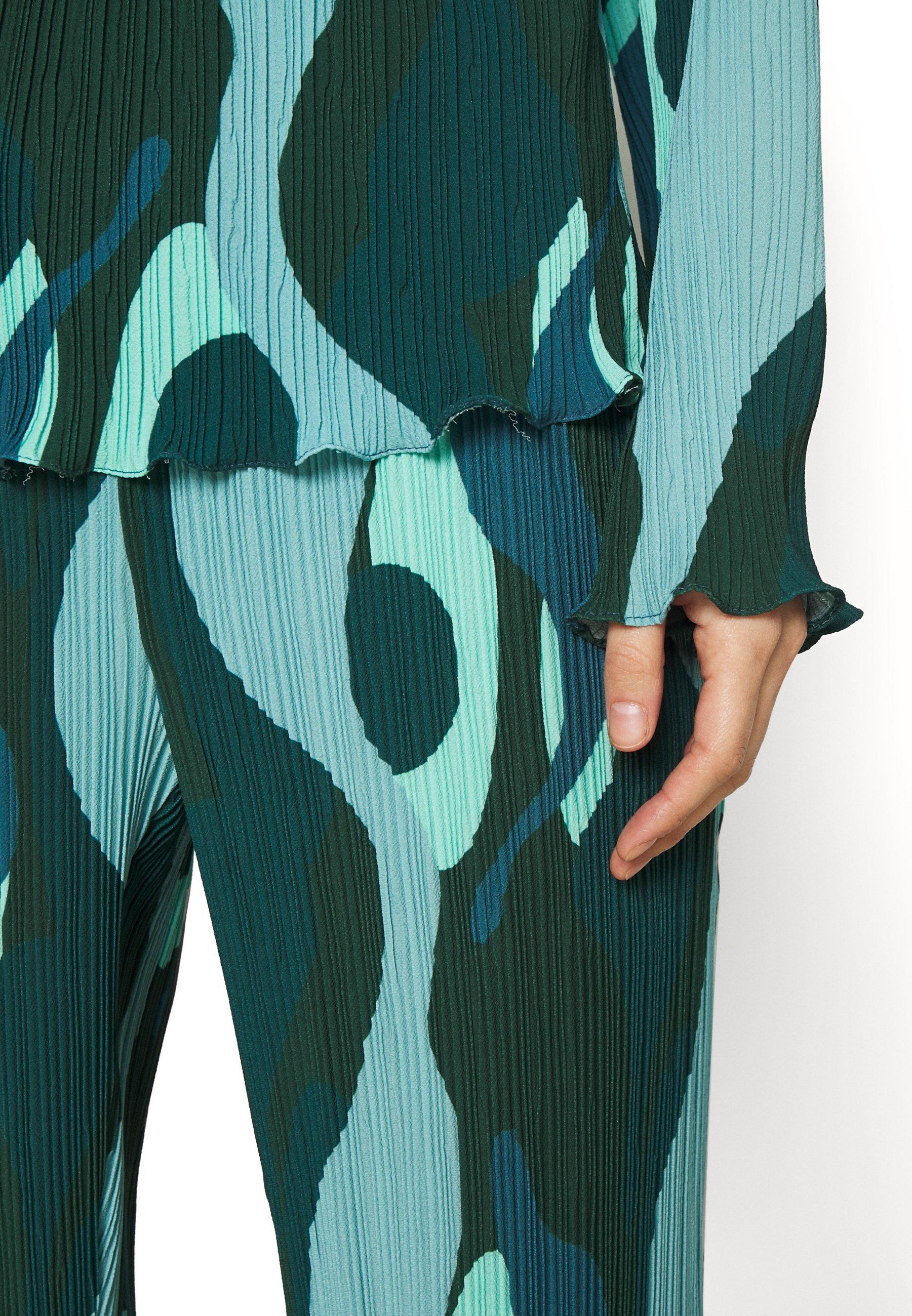Women SWIRL SMUDGE PLISSE - Long sleeved top