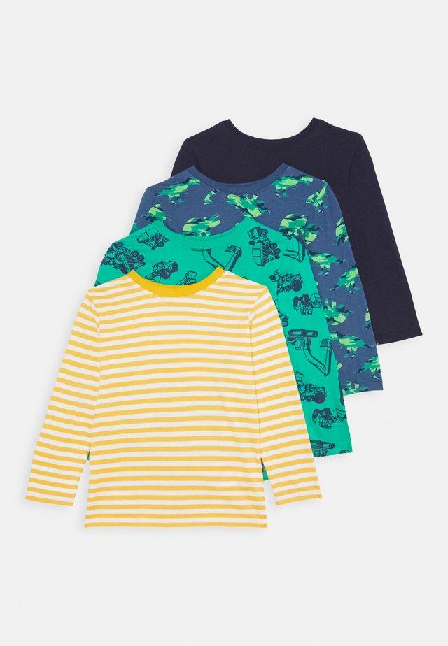 4 PACK - T-shirt à manches longues - yellow/dark blue/green