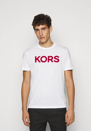 PLAID LOGO - T-shirt con stampa - white
