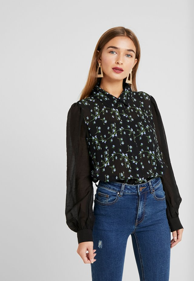 CRINKLE FLORAL - Button-down blouse - multi black