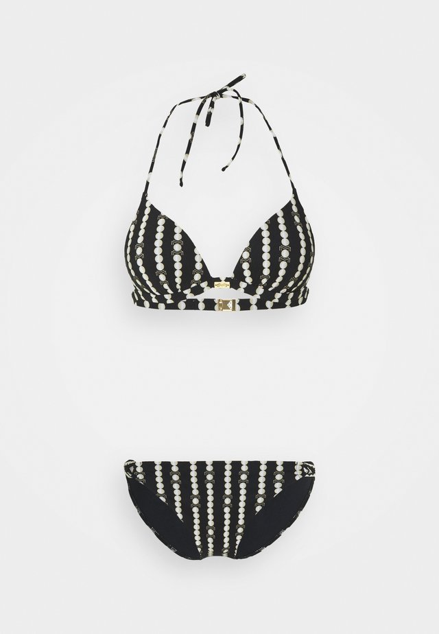 MARYAN CATENA SET - Bikinit - black/champagne