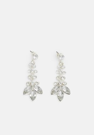 PCMELANI EARRINGS - Earrings - silver-coloured/clear