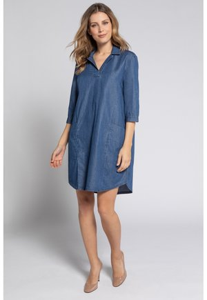 GINA LAURA DAMEN , DENIMOPTIK, REVERSKRAGEN, LYOCELL 748123 - Shirt dress - blue denim