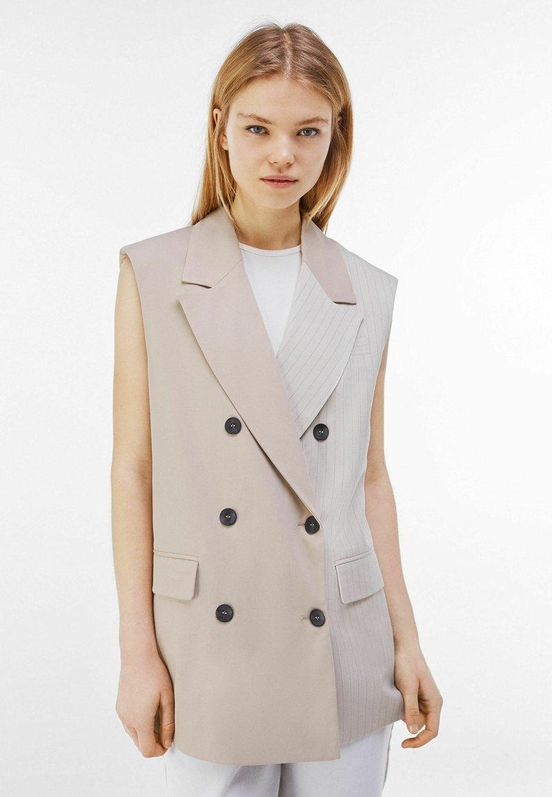 Bershka - Waistcoat - beige