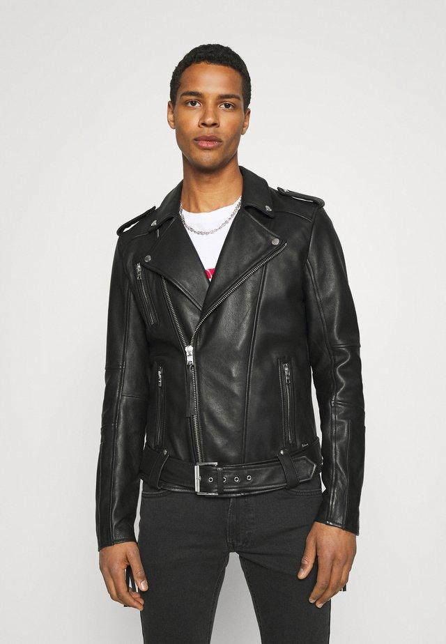 BONE - Veste en cuir - black