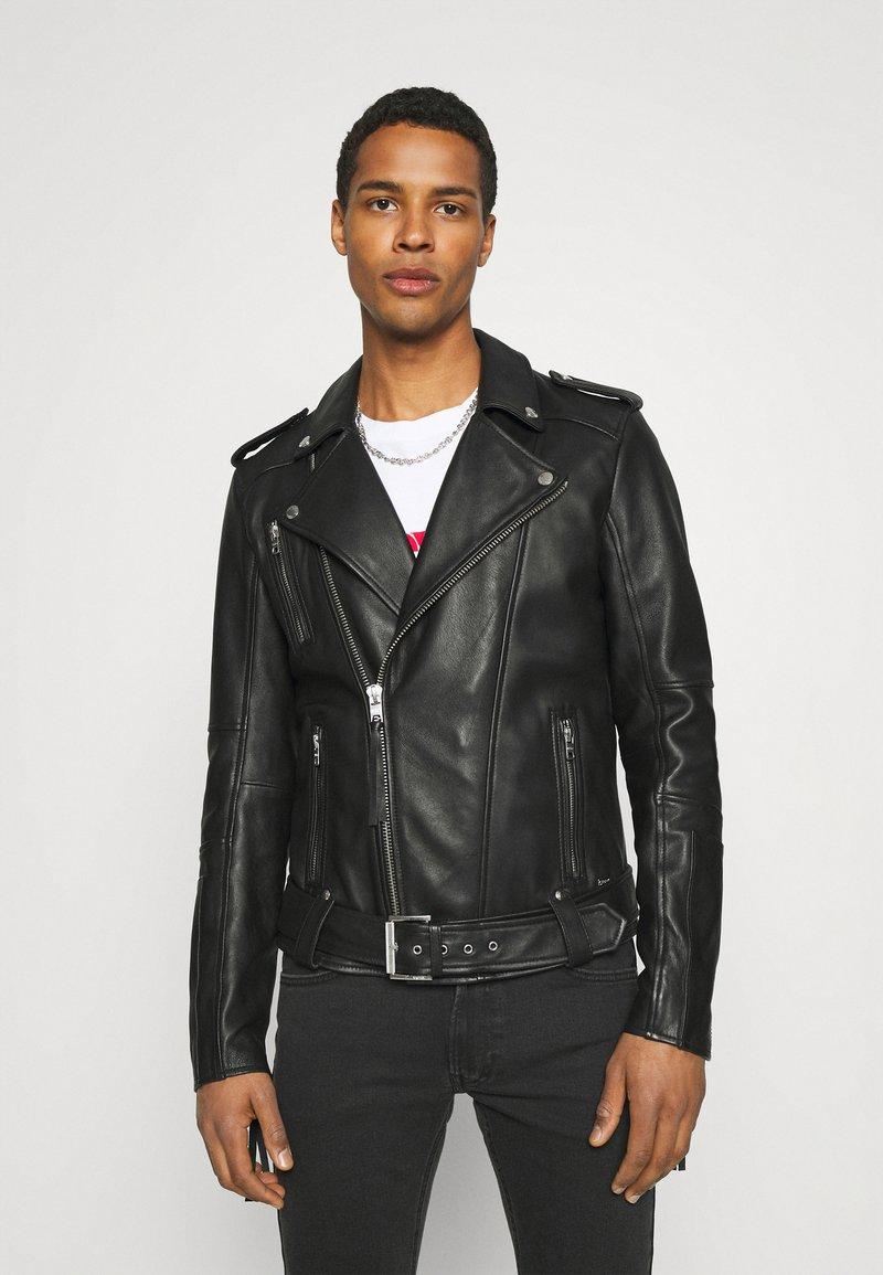 Tigha - BONE - Leather jacket - black