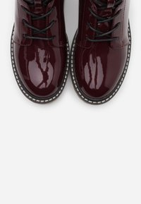 ONLY SHOES - ONLBRANDY LACE UP WINTER BOOT - Platform ankle boots - burgundy - 5