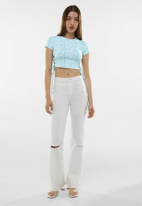Bershka - T-shirt med print - turquoise - 1