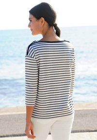 Alba Moda - Long sleeved top - marineblau weiß - 3