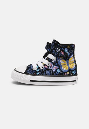 CHUCK TAYLOR ALL STAR BUTTERFLY FOREST UNISEX - High-top trainers - black/bleached cyan/pink gaze